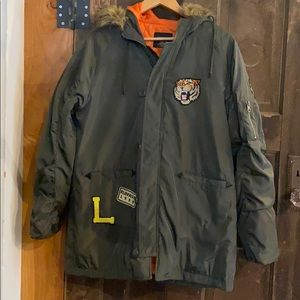 LoveTree Hooded Khaki Jacket